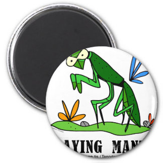 Betender Mantis durch Lorenzo Traverso Runder Magnet 5,7 Cm