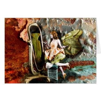 Betender Mantis im Spiegel Karte