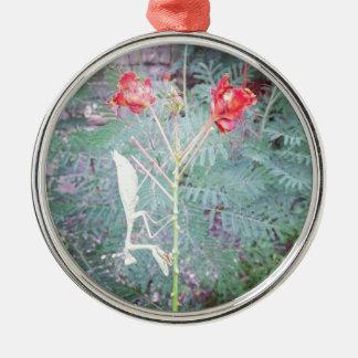 Betender Mantis Silbernes Ornament
