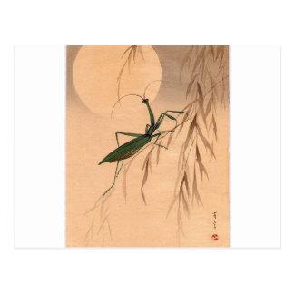 Betender Mantis und die Mond-japanischen Kunst C. Postkarte
