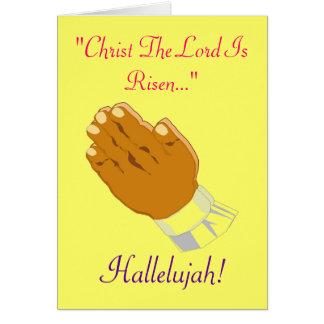 Betendes Handkind Christus der Lord ist- Grußkarte