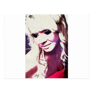 Beth wickelt Glamour-Modell auf Postkarte