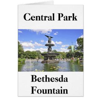 """""""Bethesda-Brunnen-"""" Central Park, NY Karte"""