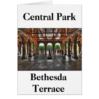 """Bethesda-Terrasse-"" Central Park, NY Karte"