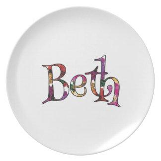 Beths bunter Spaß Flache Teller