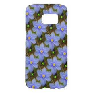 Betitelter lila Blumen-Samsungs-Galaxie-Kasten