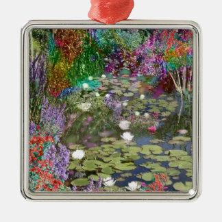 Betrachten Sie dieses und Sie finden den Frieden Silbernes Ornament