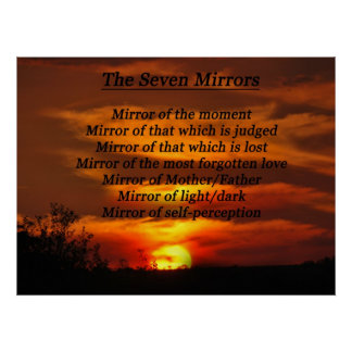 Betrachten Sie im Spiegel dem Selbst Poster