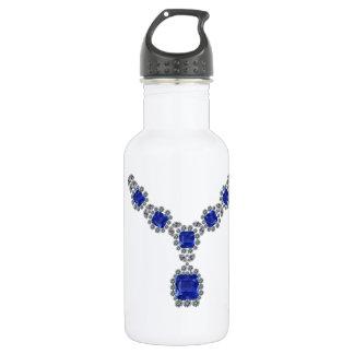 Betrachten Sie mich Saphir-Halskette Trinkflaschen