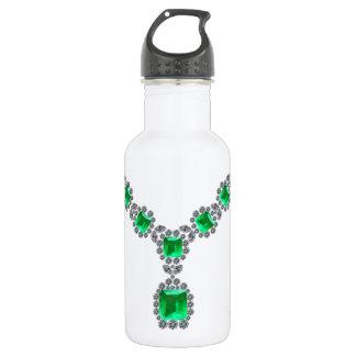Betrachten Sie mich Smaragdhalskette Trinkflasche