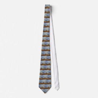 Beträchtliches Blau über dem Ufer hinaus Bedruckte Krawatte