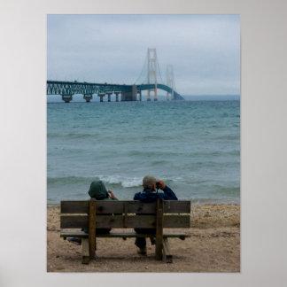 Betrachtung Mackinac Brücke Poster
