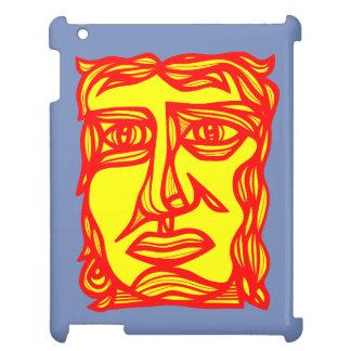 """Betrachtungs-Gesichts-Gelb roter"" iPad Kasten iPad Hülle"
