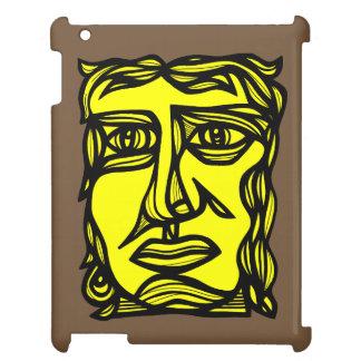 """Betrachtungs-Gesichts-Gelb-Schwarzes"" iPad Fall iPad Hülle"