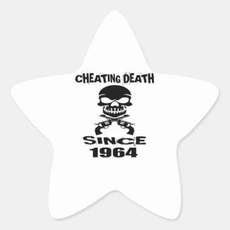 Betrügentodesseit 1964 Geburtstags-Entwürfe Stern-Aufkleber