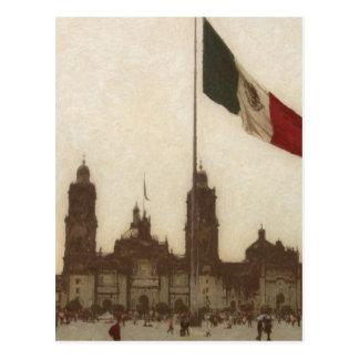 Betrugla Bandera 12 Catedral en-EL Zocalo Del DF Postkarte