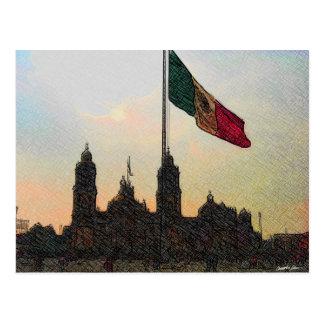 Betrugla Bandera 2.jpg Catedral en-EL Zocalo Del Postkarte