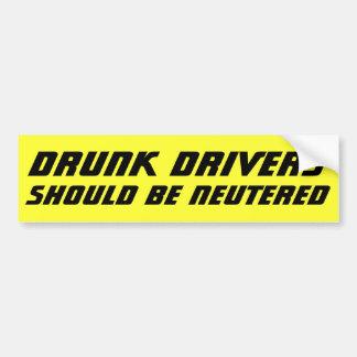 Betrunkene Fahrer sollten NEUTRALISIERTES mutiges Autoaufkleber