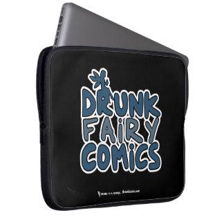 Betrunkene feenhafte Comic-Laptop-Tasche Computer Schutzhülle
