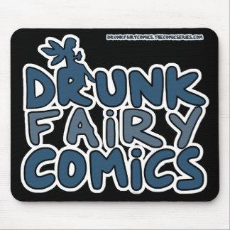 Betrunkene feenhafte Comic-offizielles Logo Mousepads