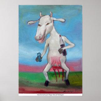 Betrunkene Kuh Poster