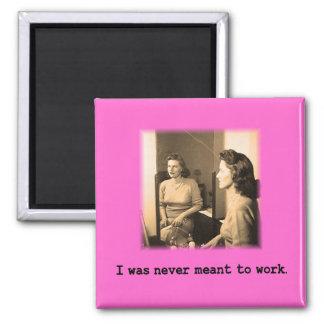 Betrunkene Mama wurde ich nie bedeutet, um Shirt Quadratischer Magnet