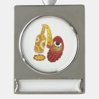 Betrunkene Mango-Fahnen-Verzierung Banner-Ornament Silber