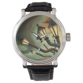 Betrunkene Straßenbeleuchtung Armbanduhr