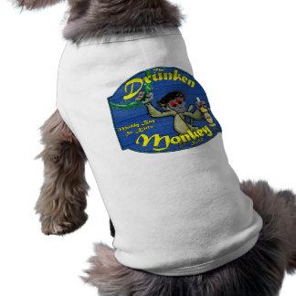 Betrunkener Affe-Bar-Hündchen-T - Shirt