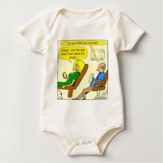 betrunkener Cartoon des Textes 817 Baby Strampler