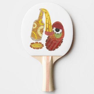 Betrunkener MangoPing Pong Schläger Tischtennis Schläger