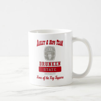 Betrunkener Staat Uni durch US-Gewohnheits-Tinte Kaffeetasse