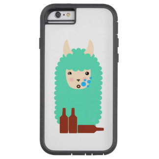 Betrunkenes Emoji Lama (Bier) Tough Xtreme iPhone 6 Hülle