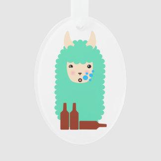 Betrunkenes Emoji Lama Ornament