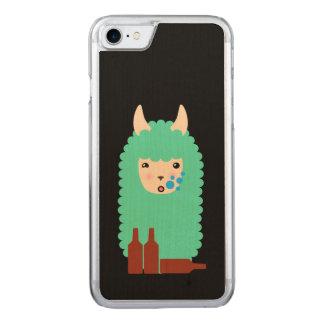 Betrunkenes Lama Emoji Carved iPhone 8/7 Hülle