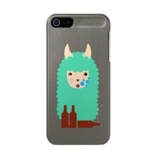 Betrunkenes Lama Emoji Incipio Feather® Shine iPhone 5 Hülle