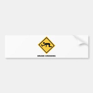 Betrunkenes Überfahrt-Zeichen Autoaufkleber
