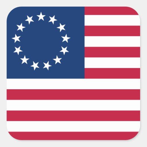 betsy Flagge USA Quadrataufkleber