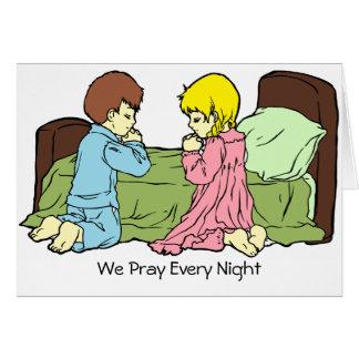 Bett-Zeit-Gebet erhalten wohle Karte