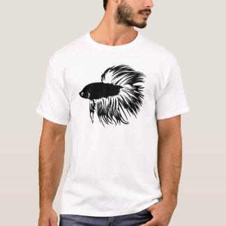Betta Fisch-Silhouette T-Shirt