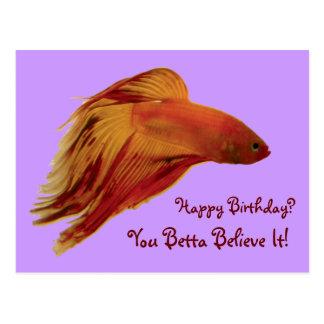 Betta - Geburtstags-Postkarte Postkarte