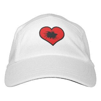 Betta Herz-Liebe-Fisch-Silhouette Headsweats Kappe