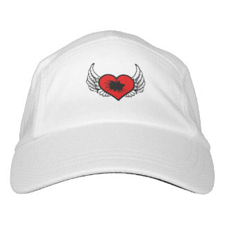 Betta Winged Herz-Liebe-Fisch-Silhouette Headsweats Kappe
