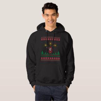 Betupfende hässliche Weihnachtsstrickjacke Hoodie
