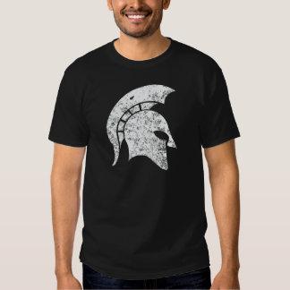 Beunruhigen-Blick spartanischer Kopf (weiß) Shirts