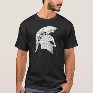 Beunruhigen-Blick spartanischer Kopf (weiß) T-Shirt