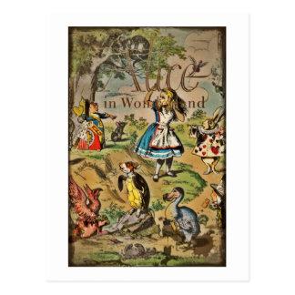 Beunruhigte Alice und Freund-Abdeckung Postkarte