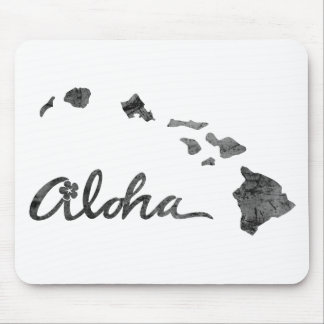 Beunruhigte Aloha Insel Mauspad