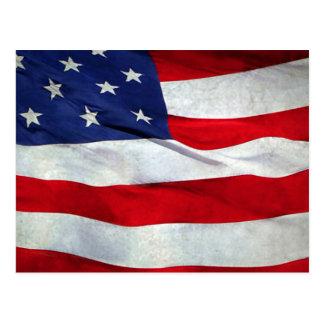 Beunruhigte amerikanische Flagge Postkarte