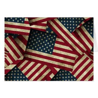 Beunruhigte amerikanische Flaggen Karte